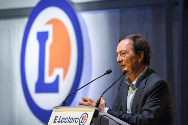 Michel-Édouard Leclerc, président-directeur du groupe E. Leclerc en mars à Champagné (Sarthe)