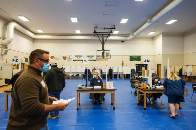 Un bureau de vote aux États-Unis (illustration)