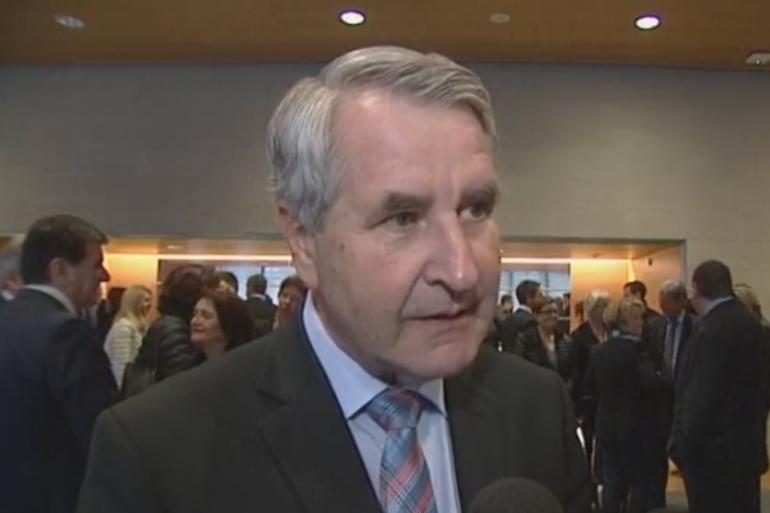 Philippe Richert, le futur président de la région Grand Est, a réuni les 168 futurs élus du conseil régional à Strasbourg le 21 décembre.