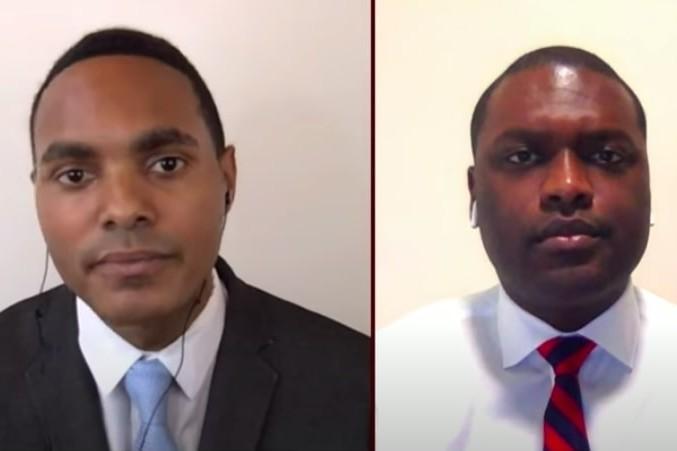 Ritchie Torres (à gauche) et Mondaire Jones (à droite) sont les deux premiers élus noirs ouvertement gays à être élus au Congrès des États-Unis.