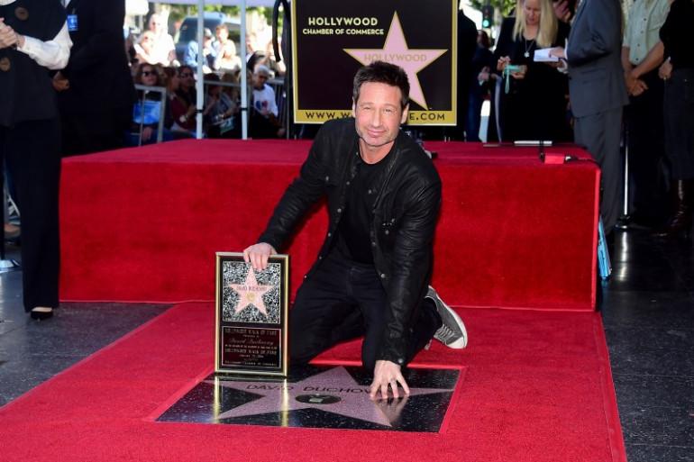 David Duchovny le 25 janvier lors de l'inauguration de son étoile sur Hollywood Boulevard.