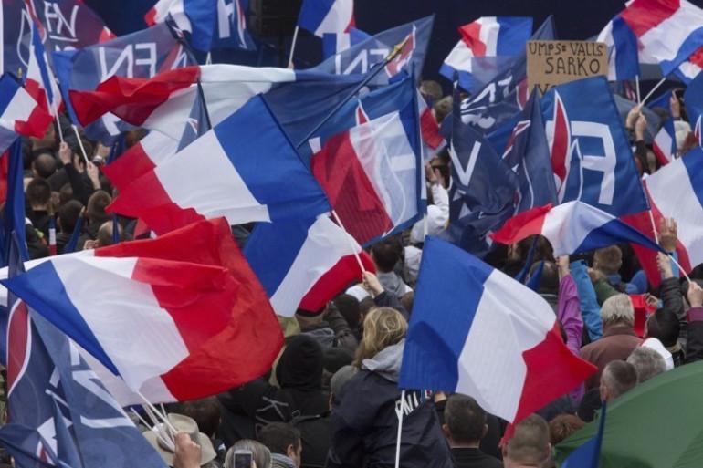 Le Front national au rassemblement du 1er mai 2015