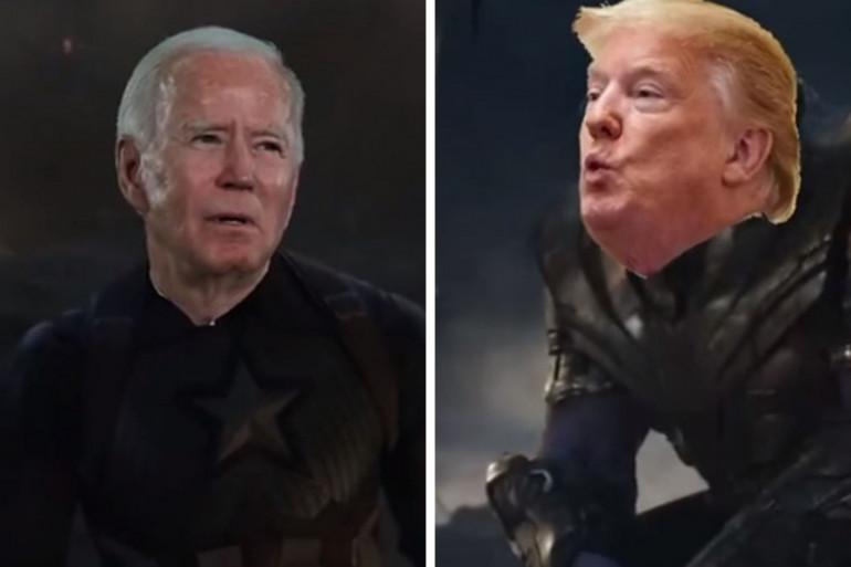 """Joe Biden et Donald Trump dans la scène finale d'""""Avengers 4"""""""