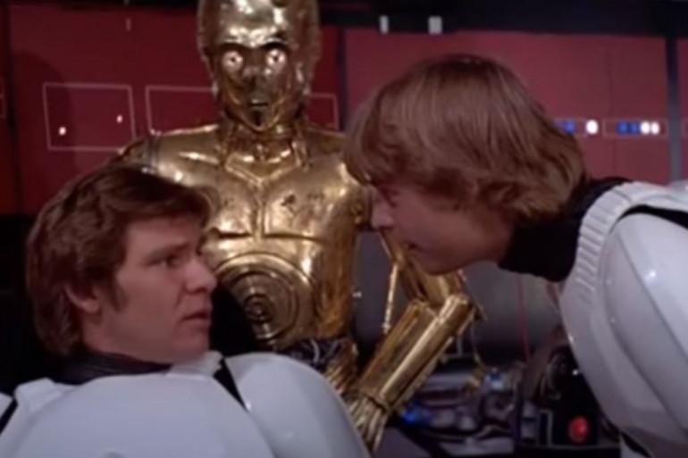 """Han Solo et Luke Skywalker dans """"Un nouvel espoir"""""""