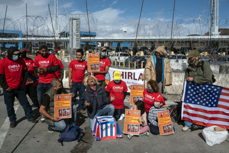 Des migrants ont célébré la victoire de Joe Biden à la frontière mexicaine