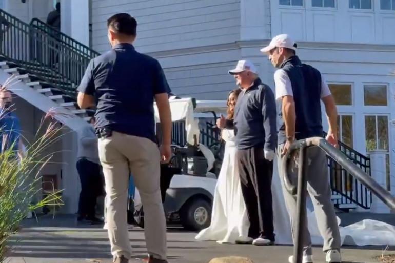 Donald Trump lors d'un mariage dans son club de golf
