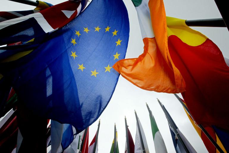 Les drapeaux de l'Union européenne (illustration)