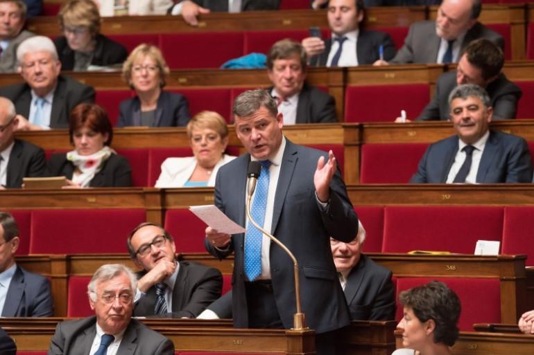 Le députe PS Christophe Sirugue à l'Assemblée nationale.