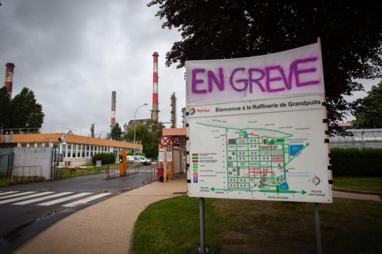 La raffinerie de Grandpuits (Seine-et-Marne) le 22 mai 2016.