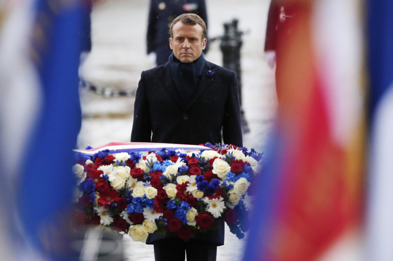 Emmanuel Macron le 11 novembre 2019 à l'Arc de Triomphe