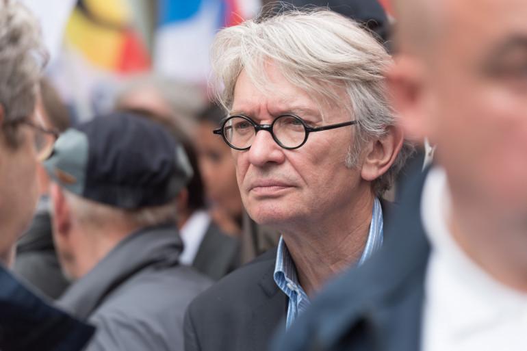 Le secrétaire général de FO, Jean-Claude Mailly, lors d'une manifestation contre la loi Travail le 26 juin 2016 à Paris.