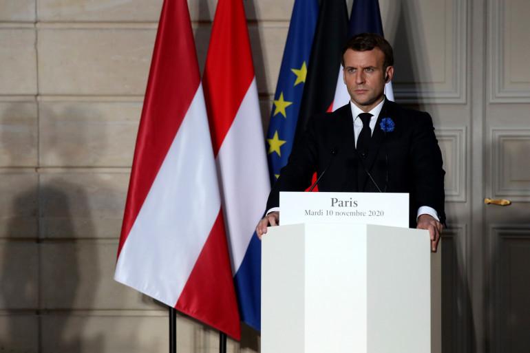 Emmanuel Macron, le 10 novembre 2020