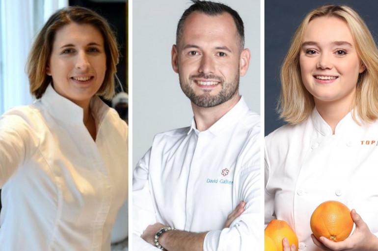 """Stéphanie Le Quellec, David Gallienne et Alexia Duchêne, anciens candidats de """"Top Chef"""""""