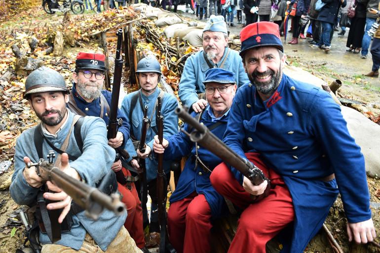 Des soldats français lors d'une reconstitution (illustration)