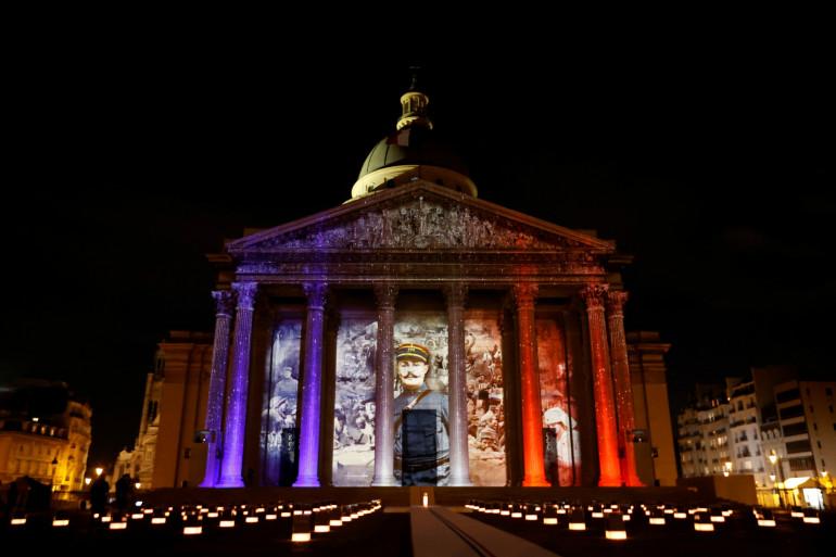 Le Panthéon illuminé pour l'entrée de Maurice Genevoix mercredi 11 novembre 2020