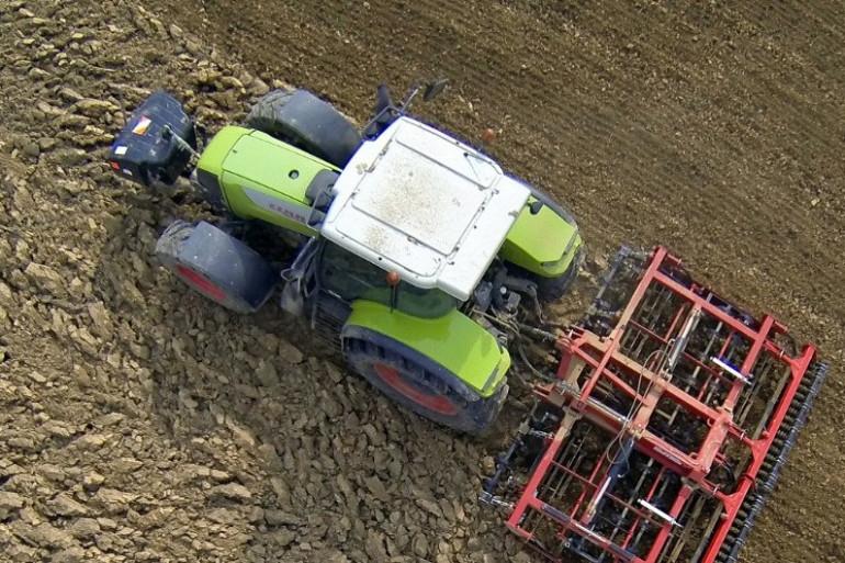Un tracteur à Godewaersvelde dans le Nord (illustration).