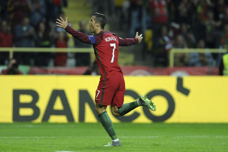 Cristiano Ronaldo le 7 octobre 2016 à Aveiro (Portugal).