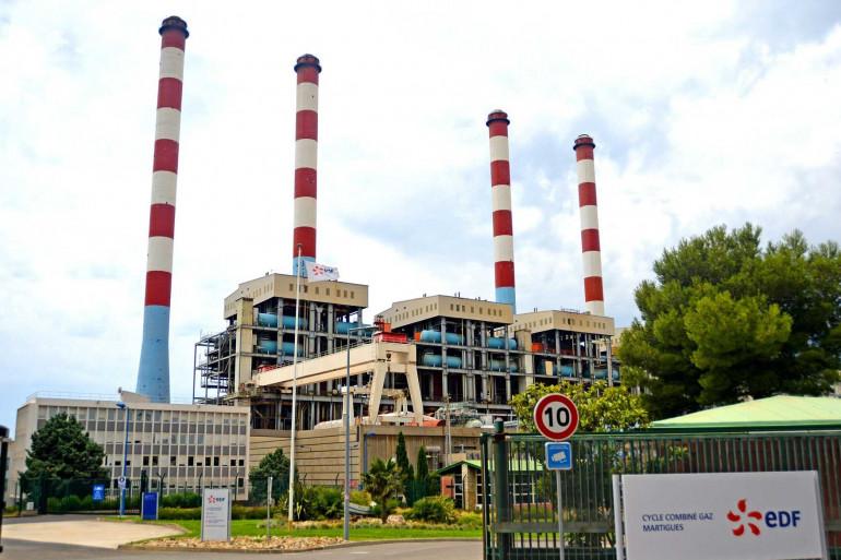 Une centrale électrique à Martigues (Bouches-du-Rhône).