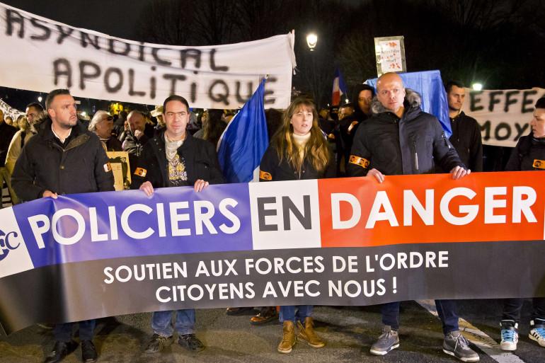 Une manifestation de policiers le 13 décembre 2016 à Paris.