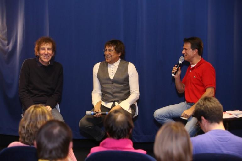 Echange sympa entre Laurent Voulzy, Alain Souchon et le public du Grand Studio de RTL