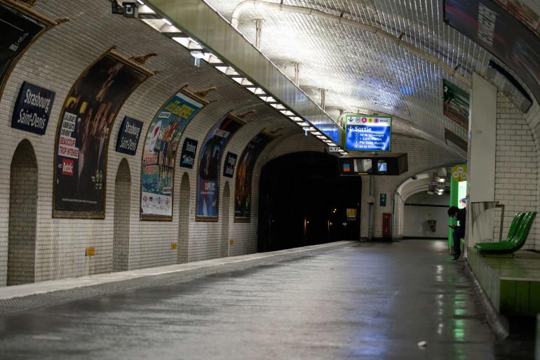Une station du métro parisien (illustration)