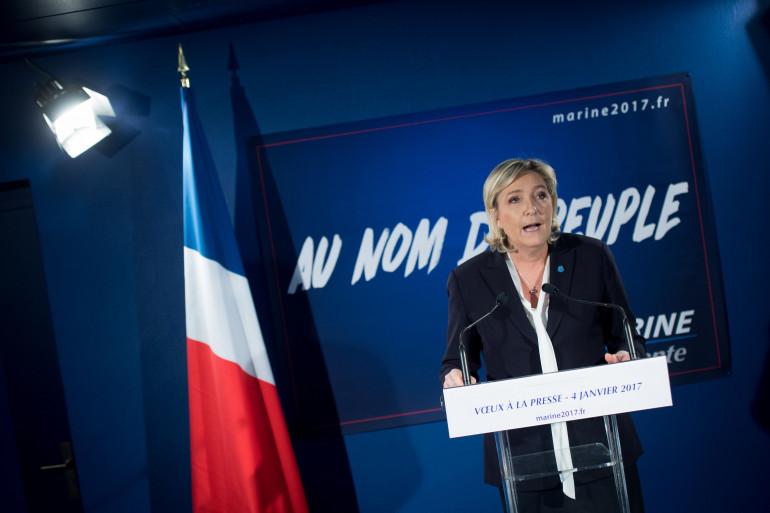 Marine Le Pen le 4 janvier 2017 à Paris.
