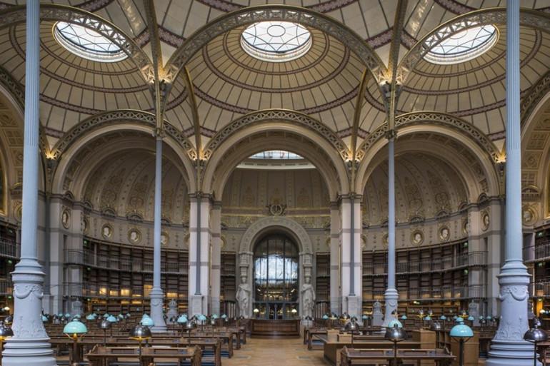 La Salle Labrouste de la Bibliothèque Nationale Richelieu.