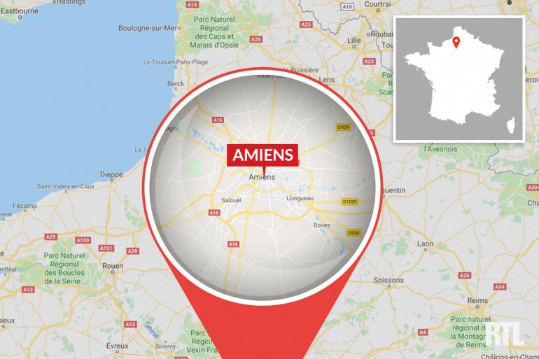 La ville d'Amiens, dans la Somme.
