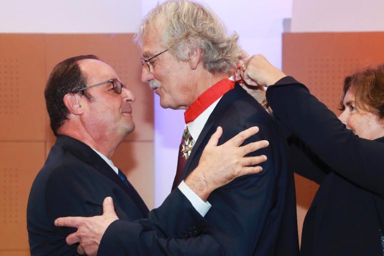 Jean-Luc Rougé avec François Hollande le 5 octobre 2017