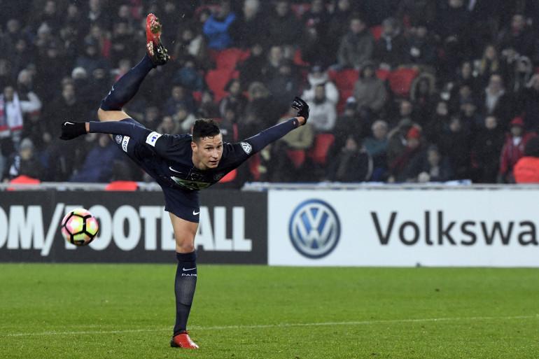 L'Allemand Julian Draxler sous les couleurs du PSG en janvier 2017