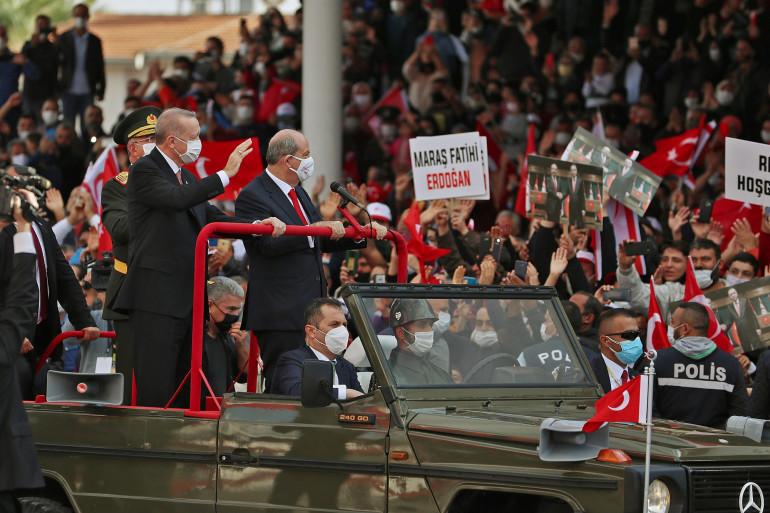 Le président turc Recep Tayyip Erdogan à Chypre, le 15 novembre 2020
