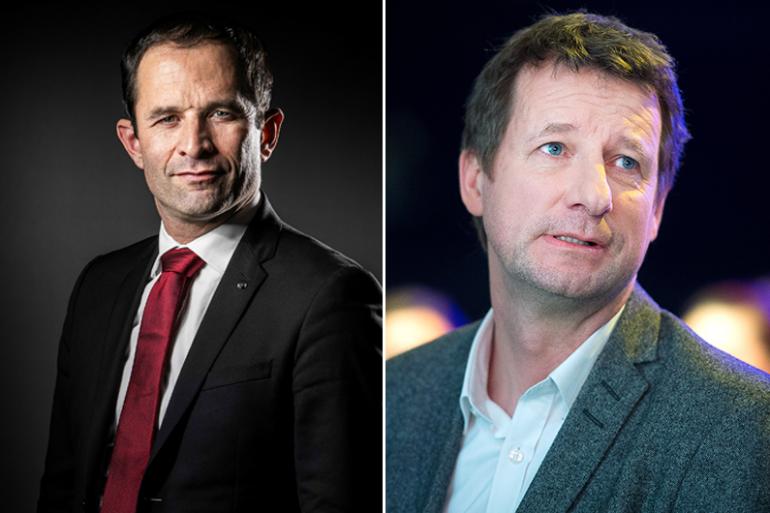 Benoît Hamon et Yannick Jadot