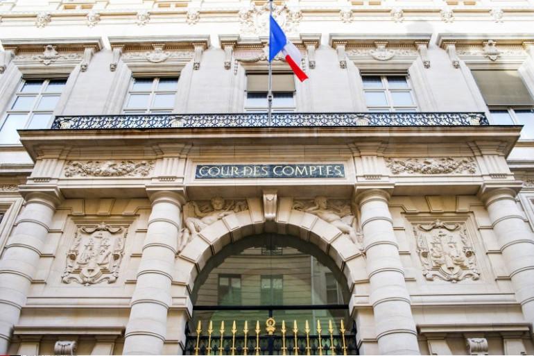 L'entrée de la Cour des comptes, à Paris le 11 février 2014