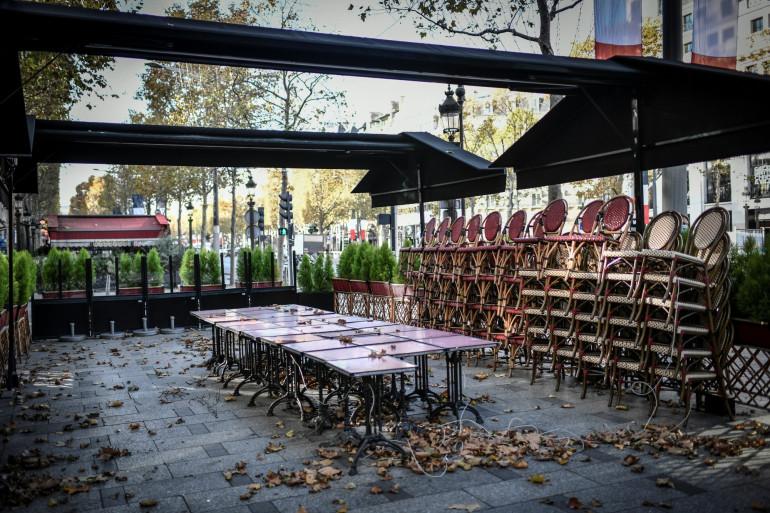 Un restaurant fermé pendant le deuxième confinement à Paris (illustration).
