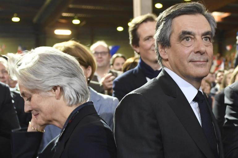 Penelope et François Fillon, le 29 janvier 2017