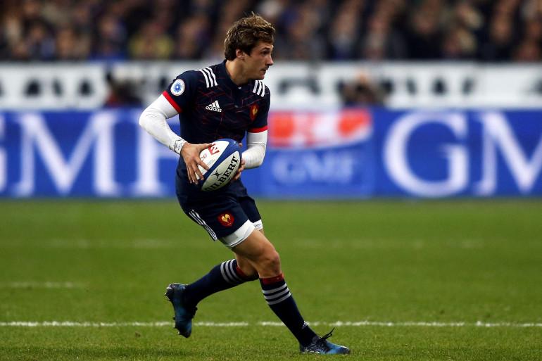 Baptiste Sérin avec le maillot de l'équipe de France face à la Nouvelle-Zélande le 26 novembre 2016