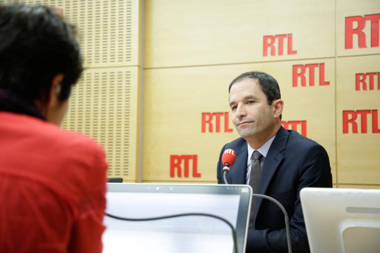 Benoît Hamon au micro de RTL, le 6 février 2017