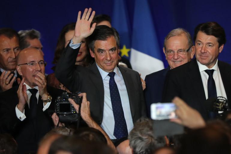 De gauche à droite : Éric Ciotti, François Fillon et Christian Estrosi