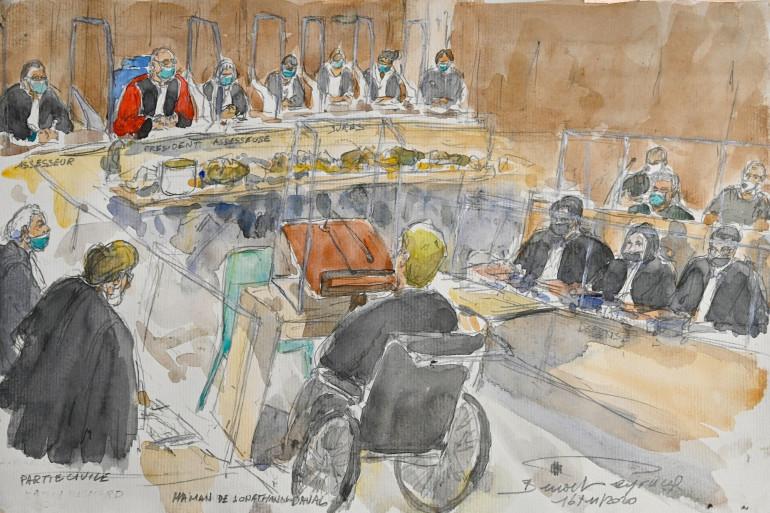 Le procès de Jonathann Daval à Vesoul, le 16 novembre 2020.