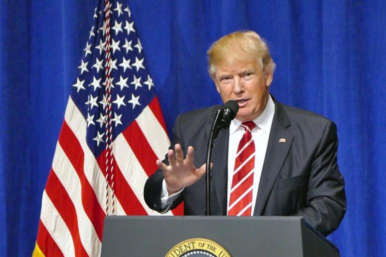 Donald Trump en Floride, le 6 février 2017