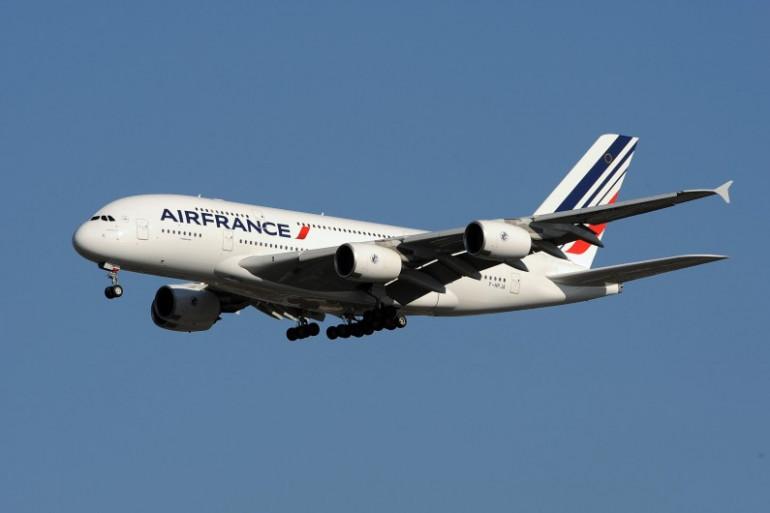 Un A380 d'Air France s'approche de l'aéroport JFK de New York, en novembre 2009 (archives).