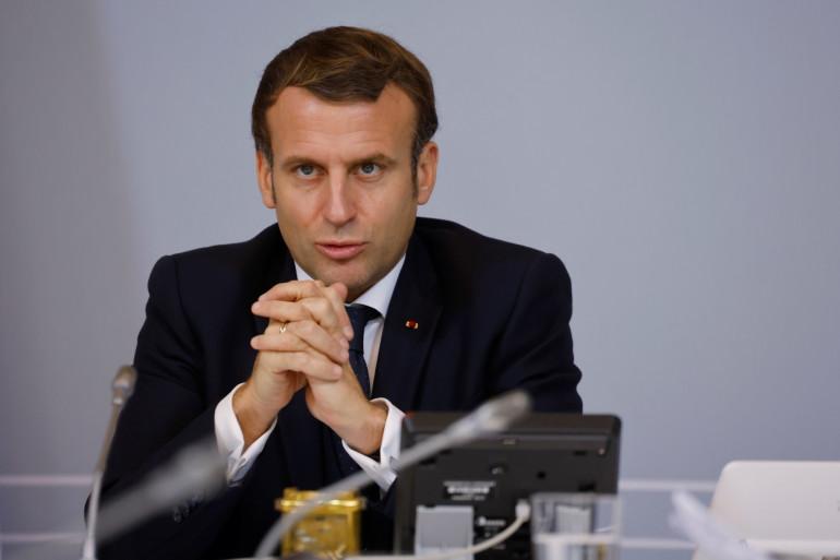 Emmanuel Macron au palais de L'Élysée, le 17 novembre 2020.