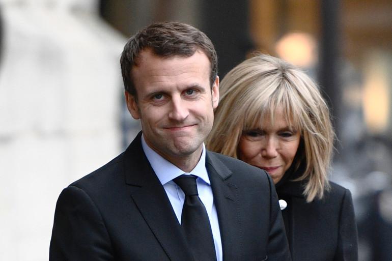 Emmanuel Macron et son épouse Brigitte Macron