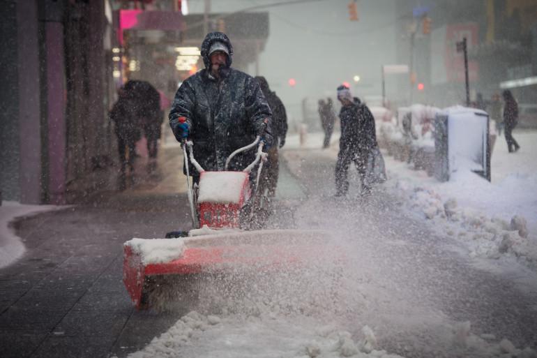 Tempête de neige à New-York