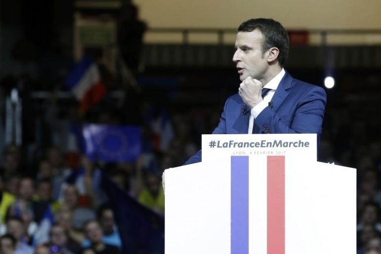 Emmanuel Macron en meeting à Lyon, le 5 février 2017
