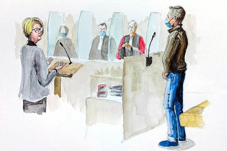 Le procès de Jonathann Daval au palais de Justice de Vesoul (Haute-Saône), le 18 novembre 2020.