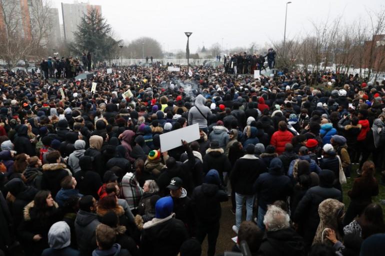 Manifestation de soutien à Théo à Bobigny le 11 février 2017