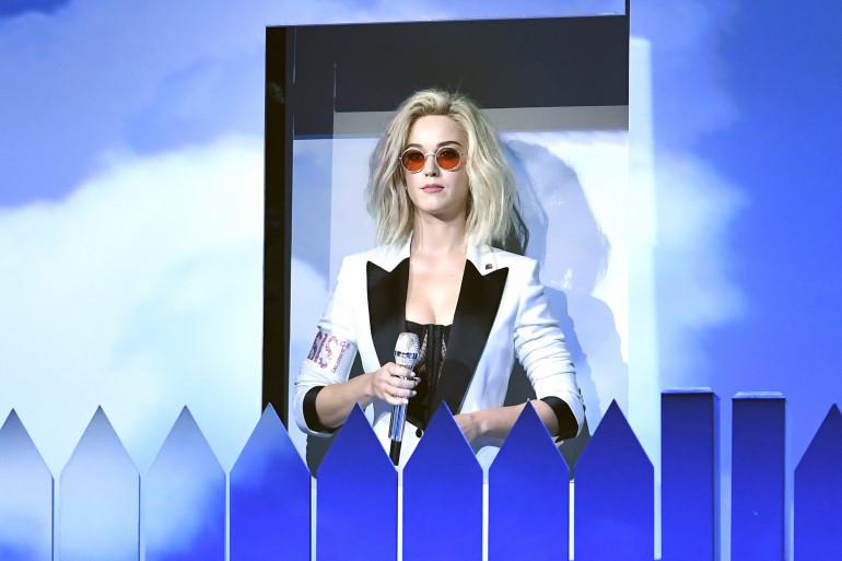 Katy Perry lors de la 59ème édition des Grammy Awards