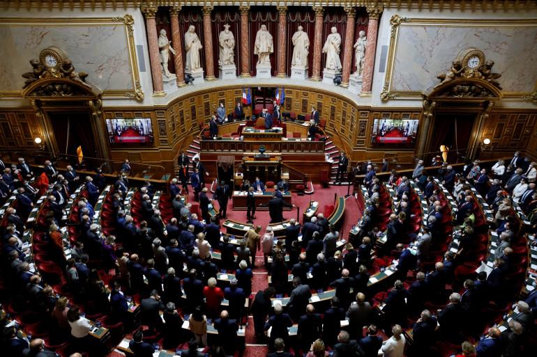 L'hémicycle du Palais du Luxembourg, où siège le Sénat français (illustration)