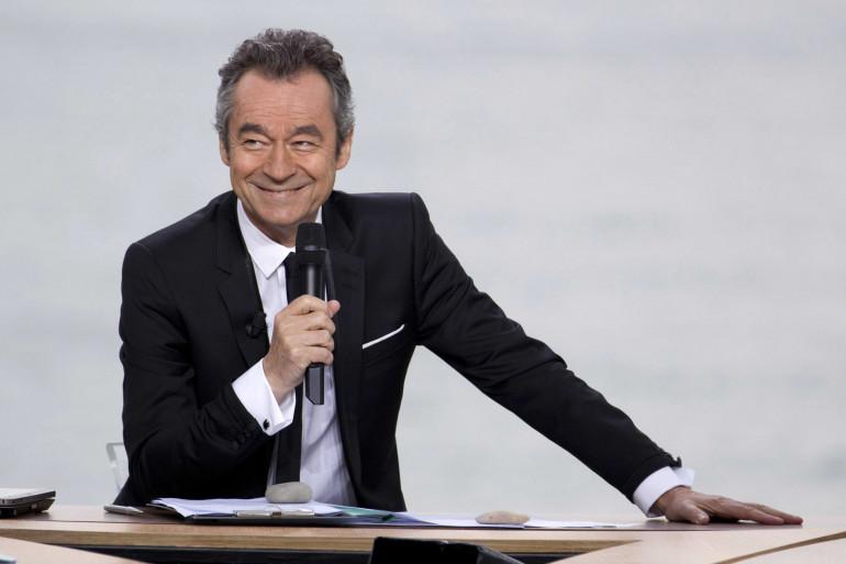Michel Denisot sur le plateau du Grand Journal à Cannes, 2011